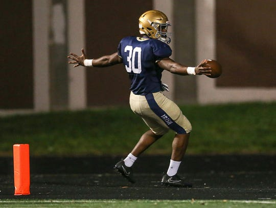 Cathedral Fighting Irish running back Markese Stepp