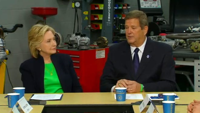 Clinton (left)