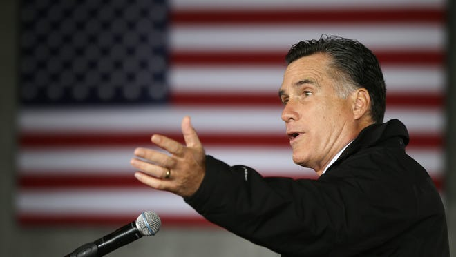 Then-Republican presidential candidate Mitt Romney campaigned in Dubuque, Iowa, on Nov. 3, 2012.
