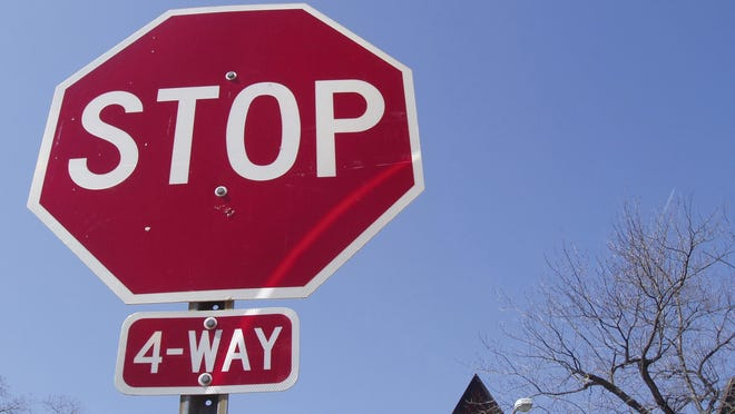The first person to a four-way stop has the right of way.