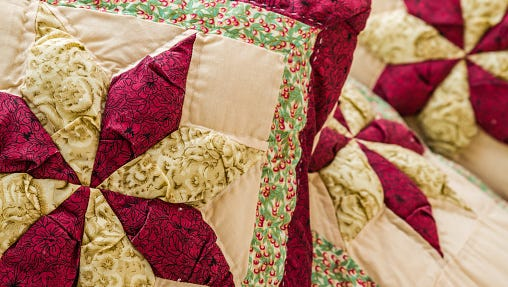 Pillow with Patchwork Design