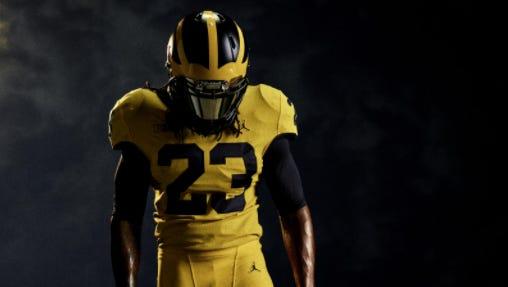 Michigan's alternate uniform for its Sept. 2 opener against Florida.