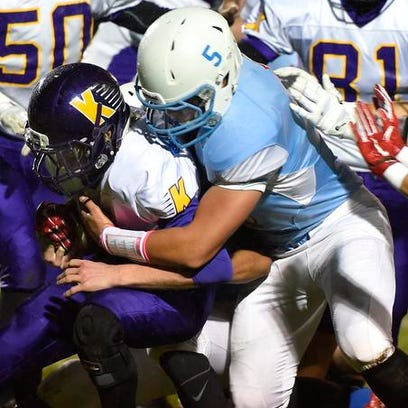 First-round high school football playoff scores