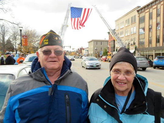 Kenneth Lawrence, left, a Vietnam veteran from Fairfield,