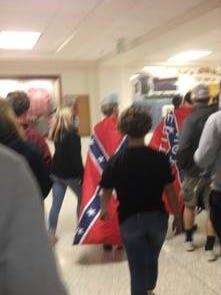 Bloomington North High School banned the Confederate flag after a few students wore it to class on Wednesday.