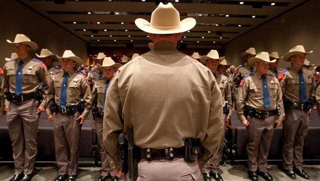 Texas Department of Public Safety recruit graduation class on April 7th, 2011 in Austin.