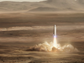 An artist's rendition of a SpaceX BFR conducting a