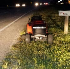 Kenneth Smith was arrested for driving this lawn tractor while under the influence.