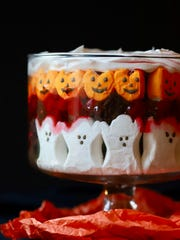 You'll need a clear glass dish to showcase spooky Halloween