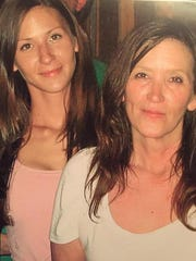 Angel Mott, left, suffered the death of her mom, Rose