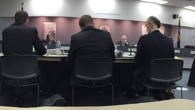 Salem-Keizer School District superintendent Christy Perry testifies to Hearing's Officer Michael Gillette on Monday.