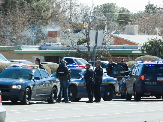 Las Cruces police officers and deputies from the U.S.