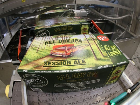 All Day IPA Session Ale on the assembly line. Canal