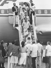 Cuban athletes arrive at Indianapolis International