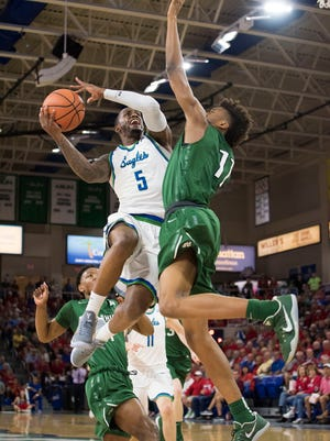 Junior guard Zach Johnson, who led FGCU with 18 points in Saturday night's home win against Jacksonville, and the Eagles will host archrival UNF just five days after beating the Ospreys in Jacksonville.