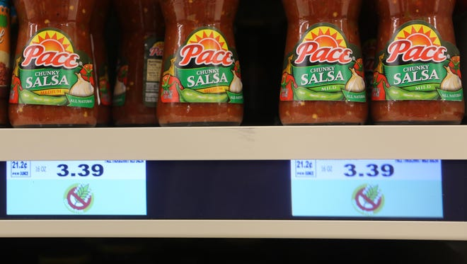 Kroger's new digital shelves can not only display prices, but can also be used to highlight specific items, such as gluten-free products.