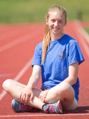 Pinckney High School graduating senior Abby Hackett, as well as being a leader on the school track team, is a member of the Stellar Students.