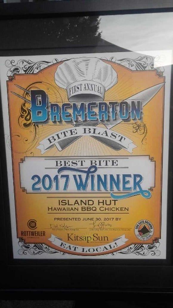 Island Hut won Best Bite for 2017.