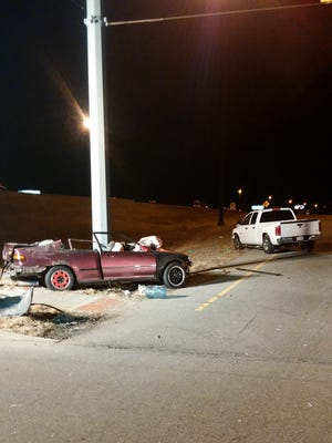 One person died Tuesday in a two-vehicle crash at about 8:25 p.m. on Pendleton Pike southwest of the I-465 interchange in Indianapolis.