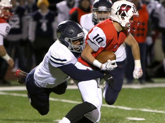Brookfield East's Caleb Wright makes first contact