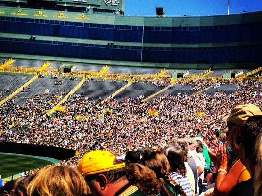 One of my most memorable moments from the summer was sitting in the stands at Lambeau Field for the annual Packers shareholders meeting. While I interviewed fans and team owners, I found it difficult to not get caught up in the excitement.