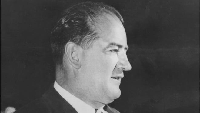 Senator (R.-Wisc) Joseph McCarthy in 1954.