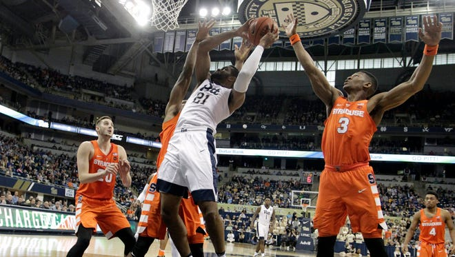 Pittsburgh out-rebounded Syracuse 41-25 in the Orange's 80-75 loss on Saturday.
