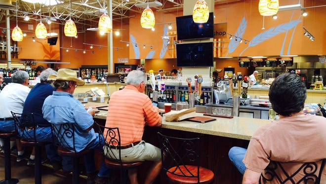 A crowded in-store beer station at a Kroger-owned Fry's Food Store in Arizona.