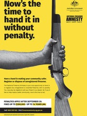 Around 26,000 firearms were turned in during a three-month national gun amnesty that concluded last month in Australia.