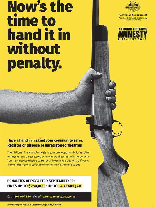 Australian gun law amnesty