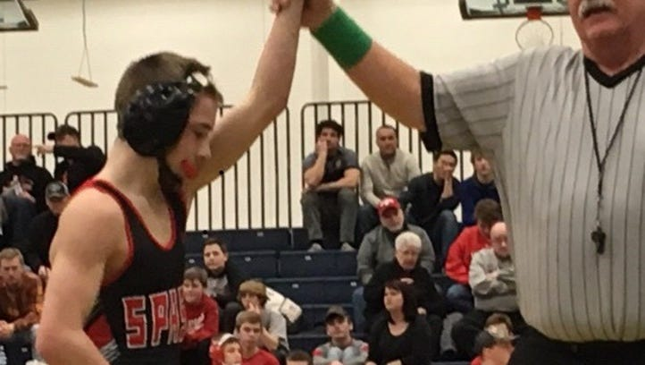 Marshfield has three champions, advances five wrestlers overall to state