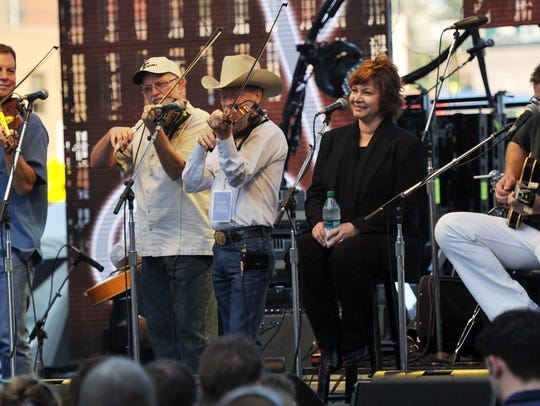 The Time Jumpers perform at a free concert celebrating