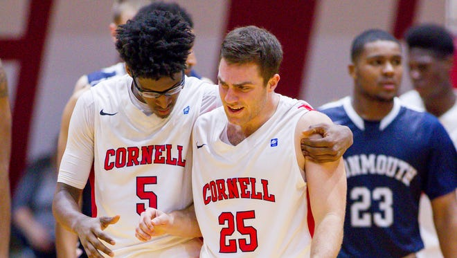 Cornell guards Robert Hatter, left, and JoJo Fallas will be seniors for the men's basketball team in 2016-17.