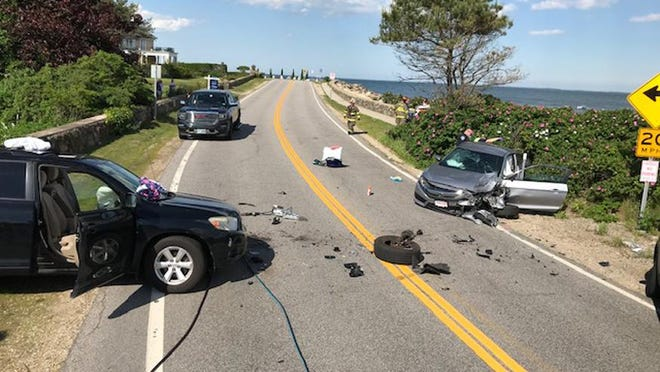 North Hampton police charged a teen with aggravated DWI following a Friday afternoon crash on Ocean Boulevard that sent five people to the hospital.