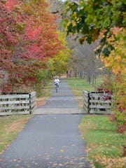 The Henry Hudson Trail, which runs through Highlands and the Leonardo section of Middletown, is a great place to go leaf-peeping by bicycle.