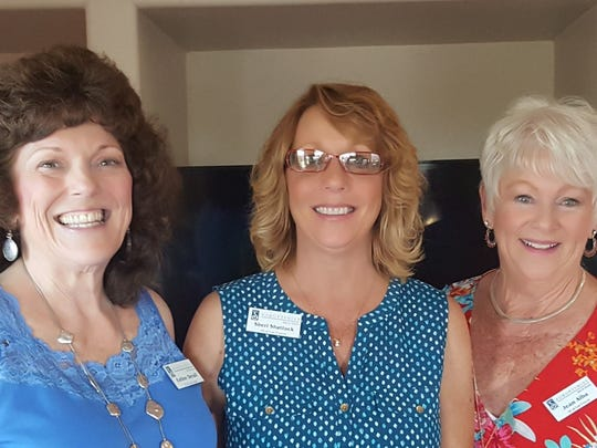 Pictured with Soroptimist International of Las Cruces new member Sherri Shattuck, on left is Esther Devall and membership chair Jean Alba.