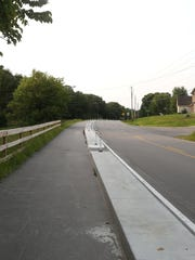 A new protected bike lane in Johnston is the first