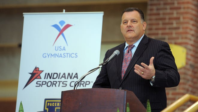 Steve Penny, president of USA Gymnastics, spoke at a news conference in 2012.