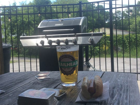 A Trailhead beer is even more enjoyable with a grilled