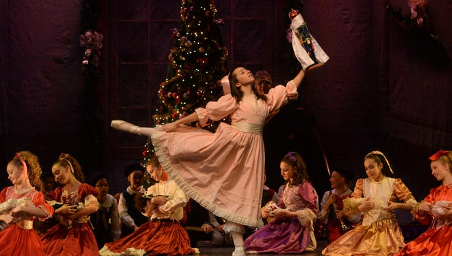 "Rachael Freedman rehearses her role as Clara in Michigan Ballet Theatre's production of ""The Nutcracker."""