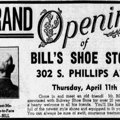 Looking Back: Phillips Ave. shoe store had catchy ads - and X-rays, too