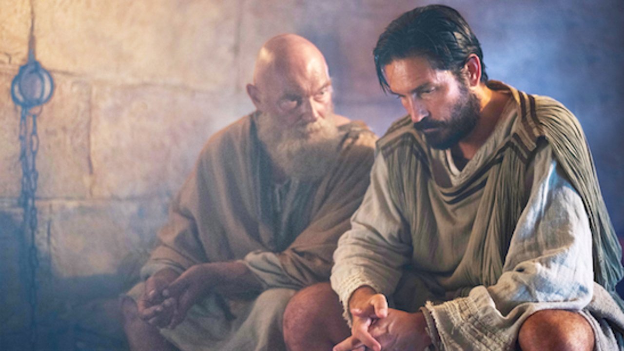 James Faulkner is Paul and Jim Caviezel is Luke in the exclusive full trailer reveal for 'Paul, Apostle of Christ.'
