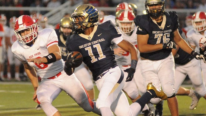 Decatur Central's Tyrone Tracy put up 310 rushing yards in the Hawks' sectional win over Plainfield on Friday.