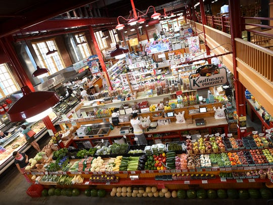 This is a view of the inside the Lebanon Farmers Market