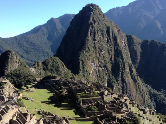 The view of Machu Picchu from the Sun Gate. It's another 40 minutes of hiking down to the site from here.