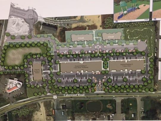 A landscape plan for Cox Cro Crossings, a development