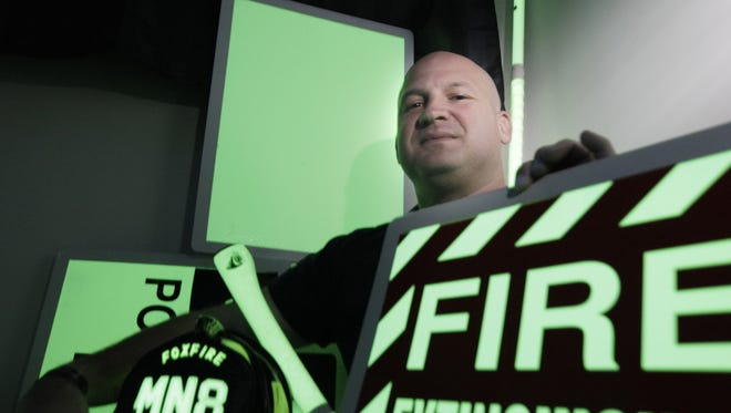 Zachary Green, president and owner of Foxfire, started working out of his home. Green sells illuminating paint and products to fire departments to keep firefighters and equipment safe through better visibility in dark and smoky conditions.