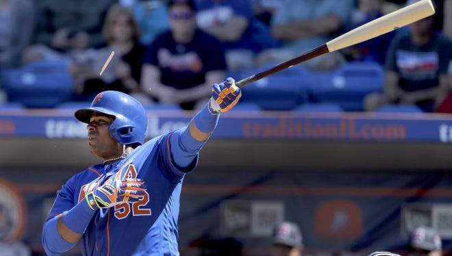 New York Mets left fielder Yoenis Cespedes said the club knows it can win a World Series. (AP Photo/Jeff Roberson)