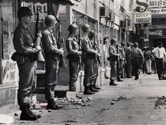 Title: Louisville Looting demonstrations 1968