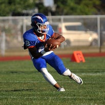 Millville's Marcial Ramos #2 Friday, Sep. 23, 2016 at John Barbose Stadium in Millville.